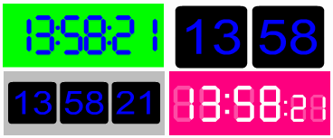 Digital Flash clocks