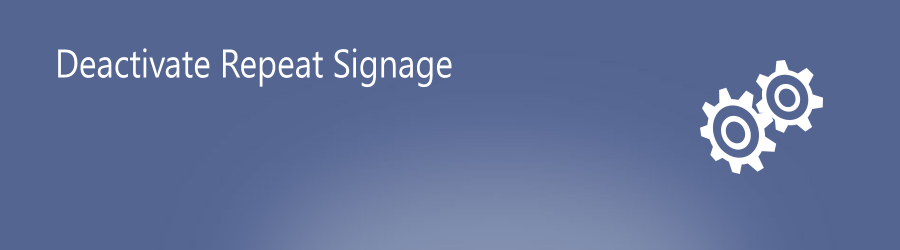 Deactivate digital signage software