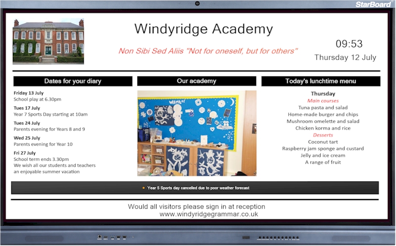 Repeat Digital Signage for academies