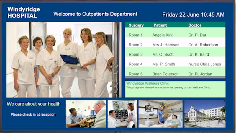 Repeat Signage digital signage software for hospitals