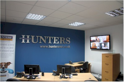 Repeat Signage at Hunters estate agencies