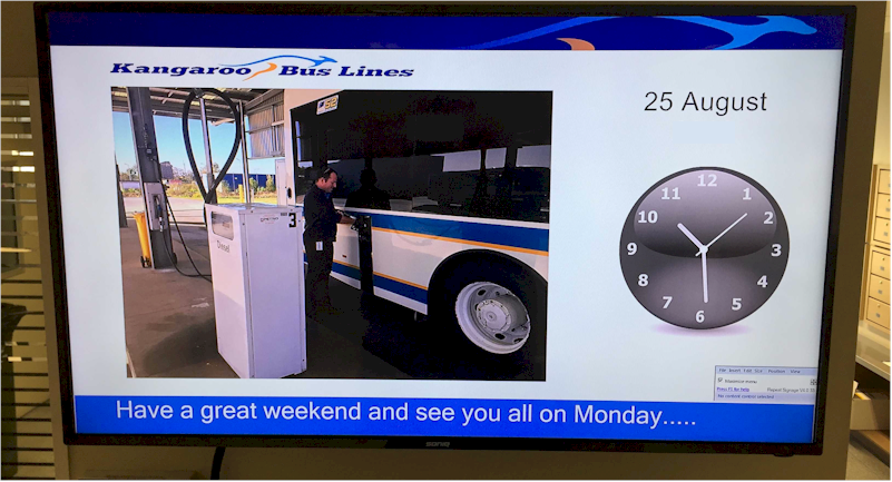 Digital signage for transport drivers