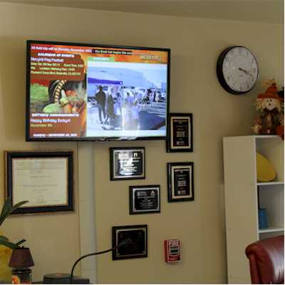 School reception digital signage