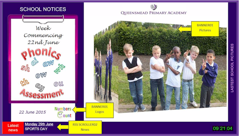 Repeat Signage at Queensmead Academy