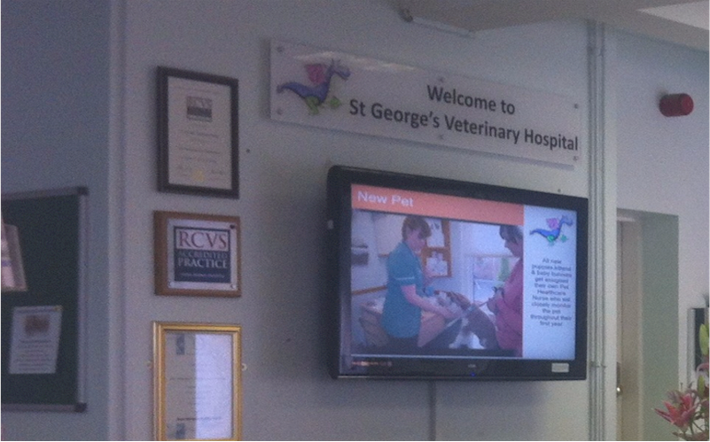 Repeat Signage at St Georges Veterinary Group