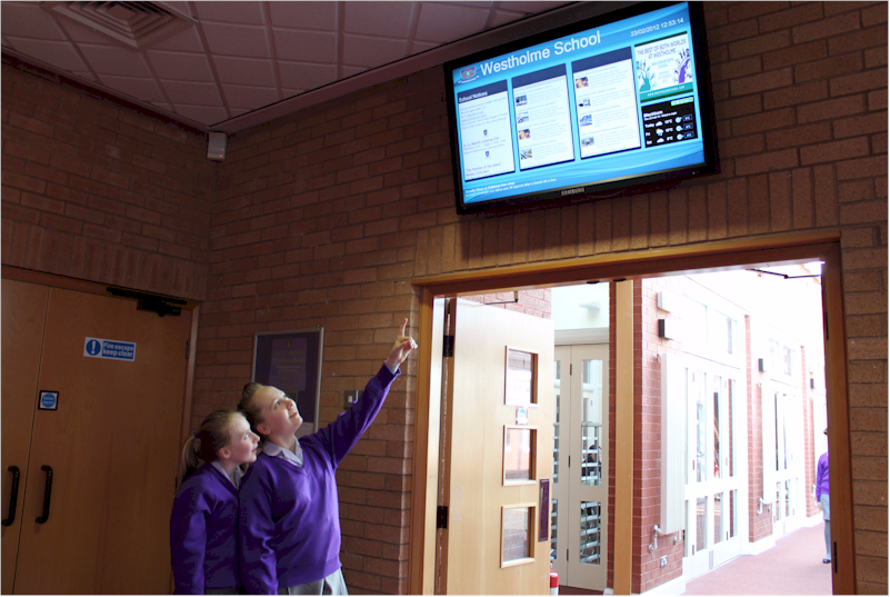 Repeat Signage software at Westholme School