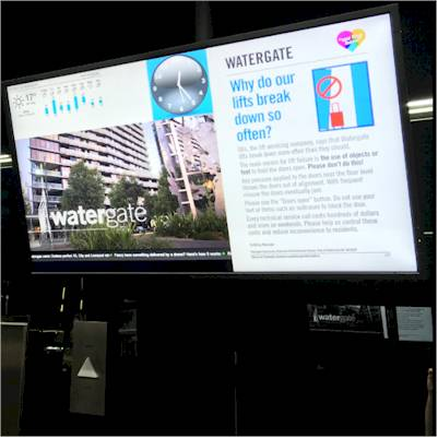 Digital signage for apartments